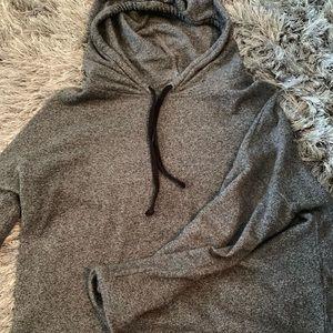 Madewell Grey Cropped Hoodie